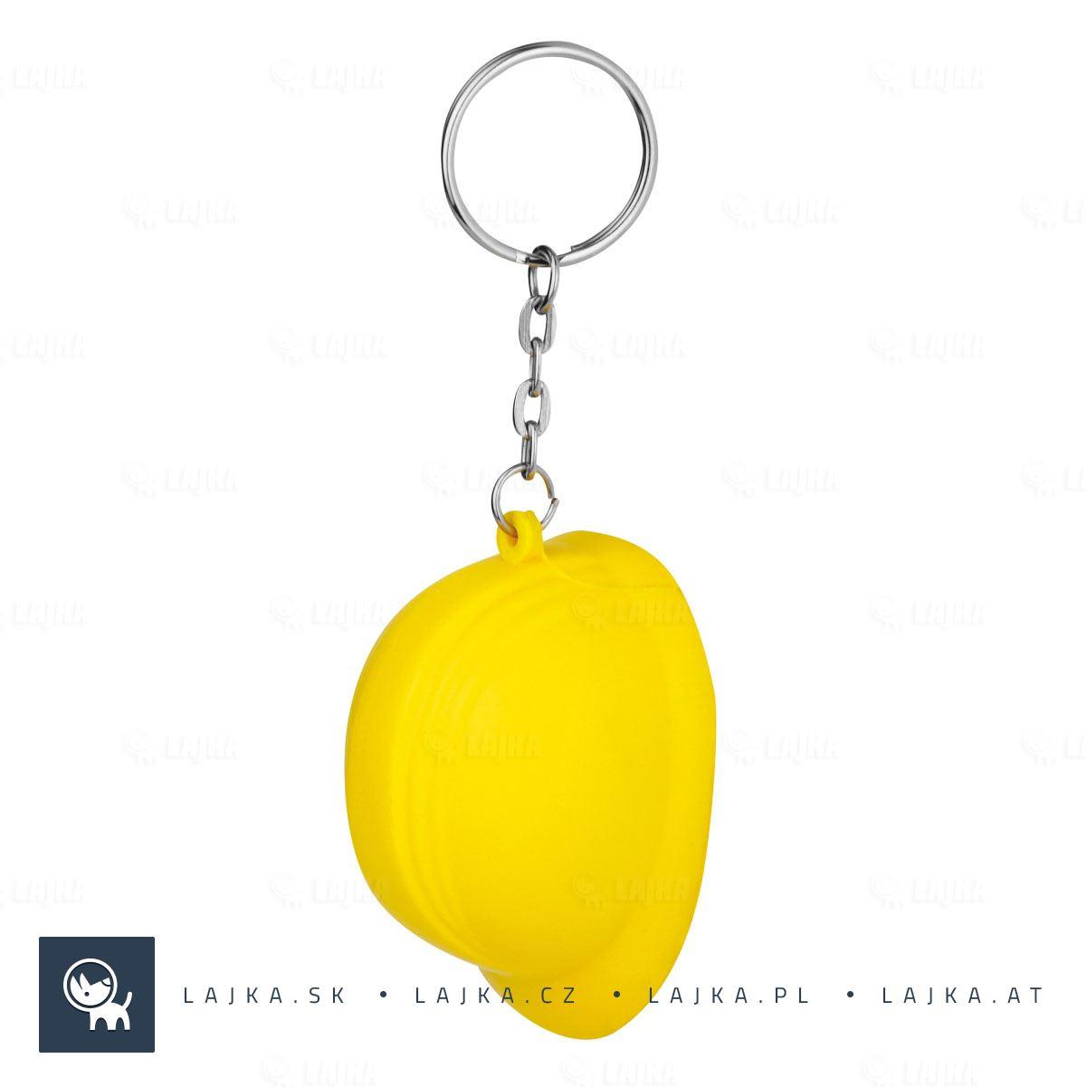 b3b60d5d7 Helmet antistresový prívesok na kľúče, žltá   Reklamné Predmety