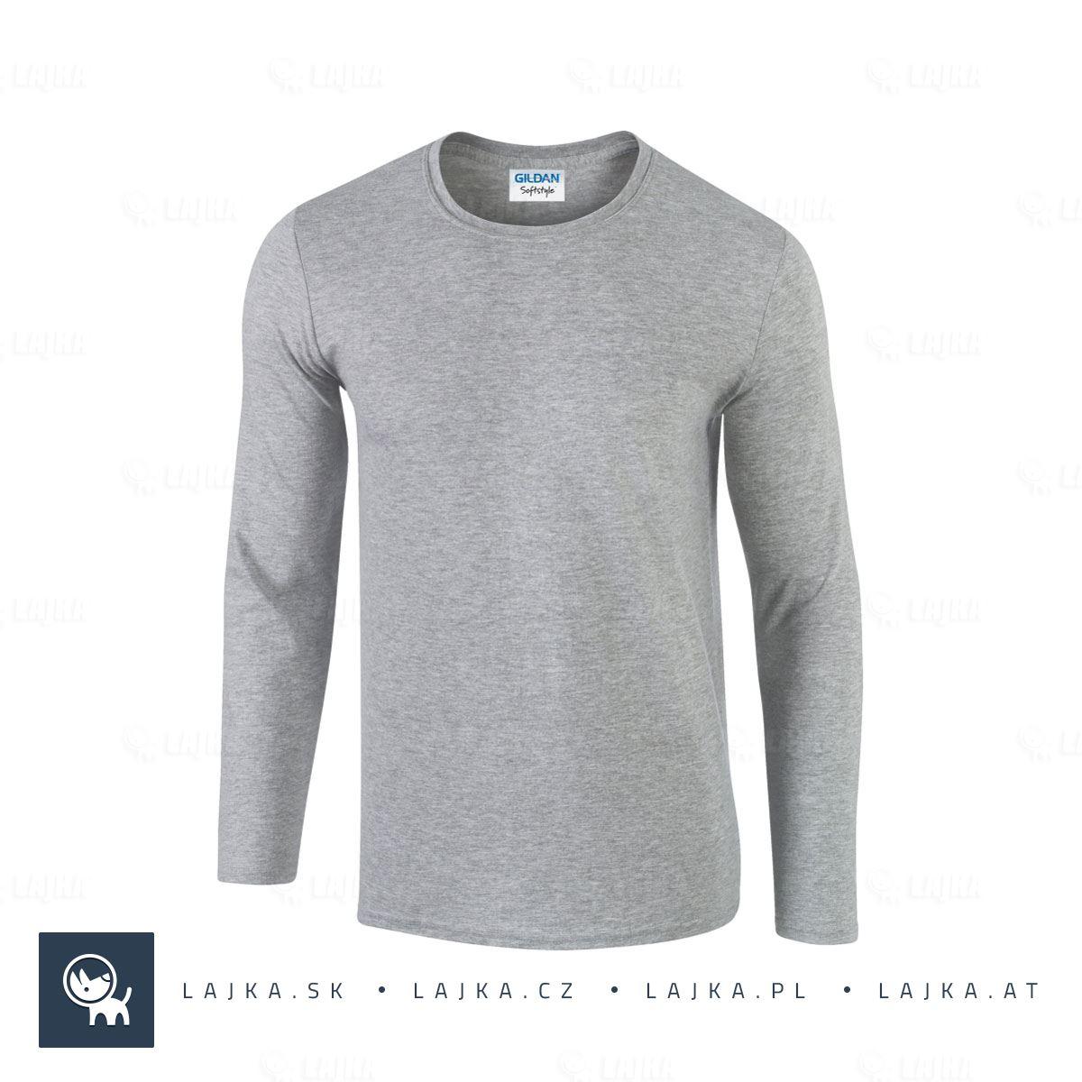 f2820848c4e6e Tričko s dlhým rukávom Softstyle Long Sleeve, športová sivá (1)