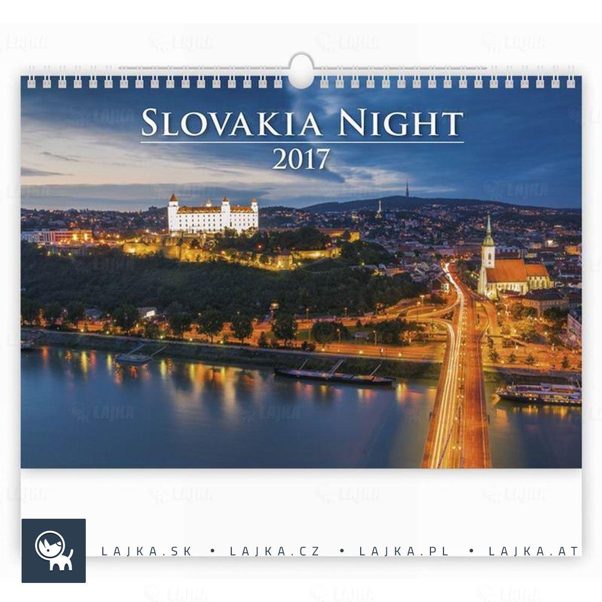kalendar slovensko Kalendár Slovensko v noci 2017 | Reklamné Predmety kalendar slovensko