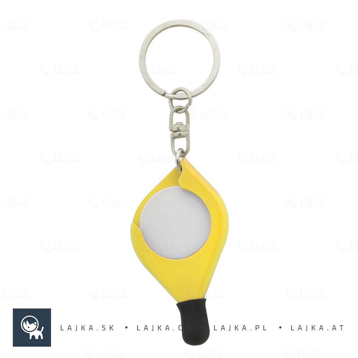 b41640c9d Prívesok na kľúče so žetónom Frits, žltá   Reklamné Predmety