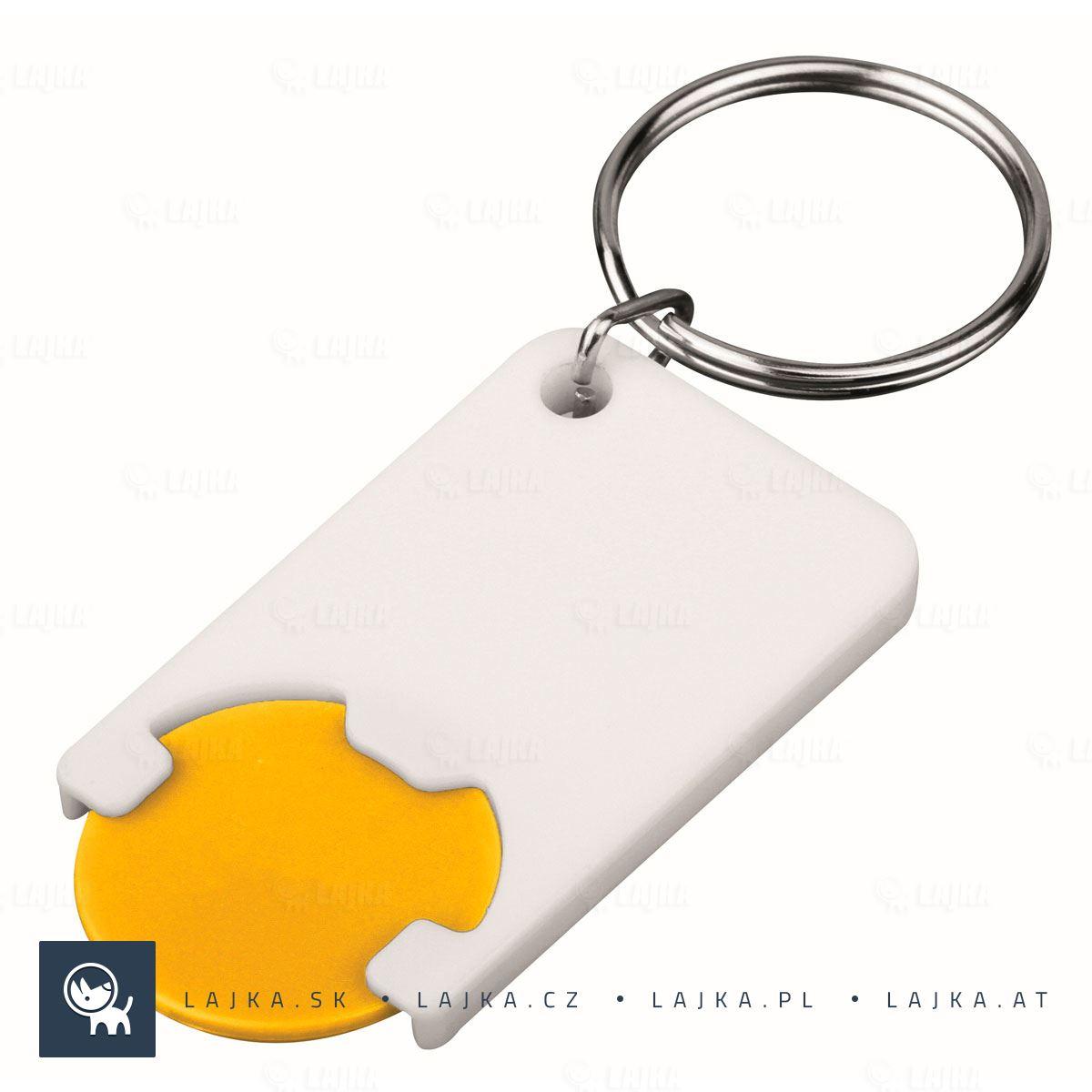 8c639a215 Plastový prívesok na kľúče so žetónom Chipsy, žltá   Reklamné Predmety
