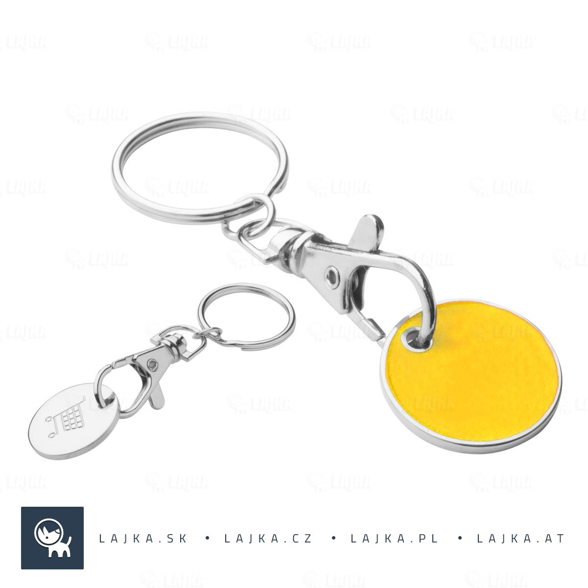 702e5e0e0 Prívesok na kľúče Euromarket, žltá   Reklamné Predmety